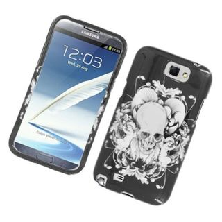 Insten Black/ White Skull Hard Snap-on Glossy Case Cover For Samsung Galaxy Note II