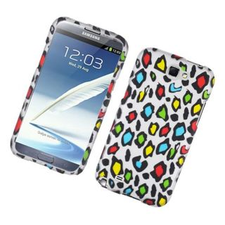 Insten Multi-Color Leopard Hard Snap-on Rubberized Matte Case Cover For Samsung Galaxy Note II