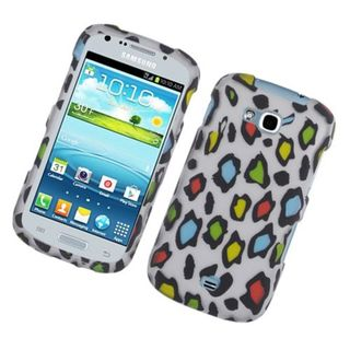 Insten Multi-Color Leopard Hard Snap-on Rubberized Matte Case Cover For Samsung Galaxy Axiom Admire 2
