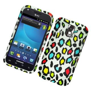 Insten Multi-Color Leopard Hard Snap-on Rubberized Matte Case Cover For Samsung Galaxy S2 Hercules