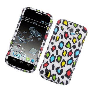 Insten Multi-Color Leopard Hard Snap-on Rubberized Matte Case Cover For ZTE Flash