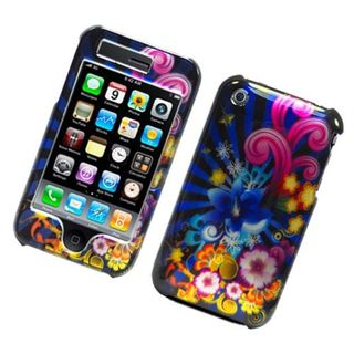 Insten Blue/ Colorful Fireworks Hard Snap-on Glossy Case Cover For Apple iPhone 3G/ 3GS