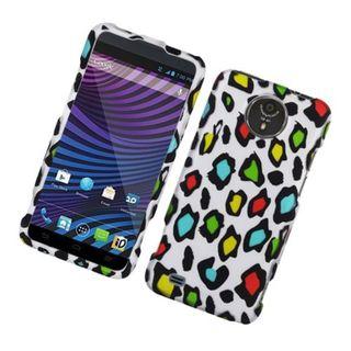 Insten Multi-Color Leopard Hard Snap-on Rubberized Matte Case Cover For ZTE Vital