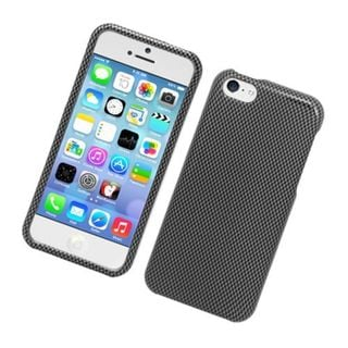 Insten Dark Grey Carbon Fiber Hard Snap-on Glossy Case Cover For Apple iPhone 5C