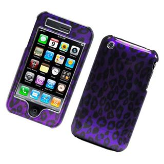 Insten Purple Leopard Hard Snap-on Glossy Case Cover For Apple iPhone 3G/ 3GS