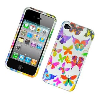 Insten Colorful Butterfly Hard Snap-on Glossy Case Cover For Apple iPhone 4/ 4S
