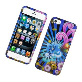 Insten Blue/ Colorful Fireworks Hard Snap-on Glossy Case Cover For Apple iPhone 5/ 5S