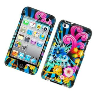 Insten Blue/ Colorful Fireworks Hard Snap-on Glossy Case Cover For Apple iPod Touch 4th Gen