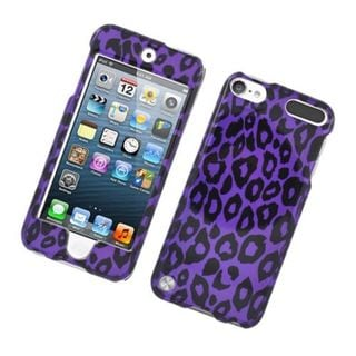 Insten Purple Leopard Hard Snap-on Glossy Case Cover For Apple iPod Touch 5th Gen