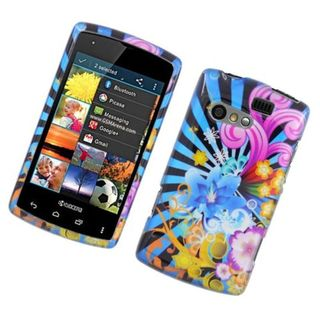 Insten Blue/ Colorful Fireworks Hard Snap-on Glossy Case Cover For Kyocera Rise C5155