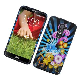 Insten Blue/ Colorful Fireworks Hard Snap-on Glossy Case Cover For LG G2 D800 ATT