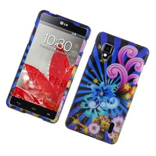 Insten Blue/ Colorful Fireworks Hard Snap-on Glossy Case Cover For LG Optimus G LS970 Sprint