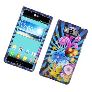 Insten Blue/ Colorful Fireworks Hard Snap-on Glossy Case Cover For LG Splendor US730 / Venice LG730