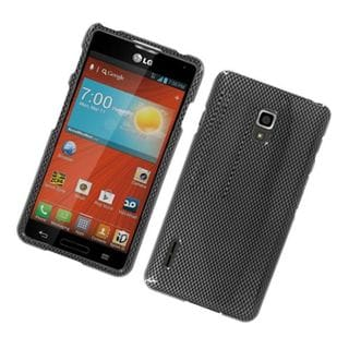 Insten Dark Grey Carbon Fiber Hard Snap-on Glossy Case Cover For LG Optimus F7 LG870
