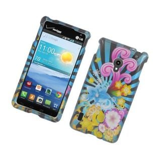 Insten Blue/ Colorful Fireworks Hard Snap-on Glossy Case Cover For LG Lucid 2