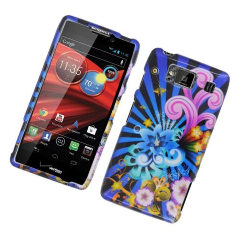 Insten Blue/ Colorful Fireworks Hard Snap-on Glossy Case ...