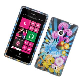 Insten Blue/ Colorful Fireworks Hard Snap-on Glossy Case Cover For Nokia Lumia 521