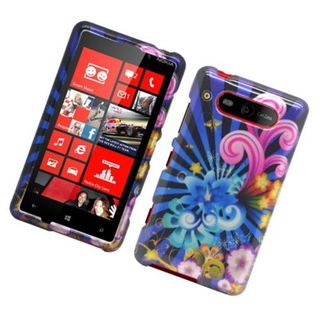 Insten Blue/ Colorful Fireworks Hard Snap-on Glossy Case Cover For Nokia Lumia 820