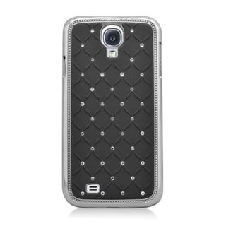 Insten Hard Snap-on Chrome Rubberized Matte Case Cover with Diamond For Samsung Galaxy S4