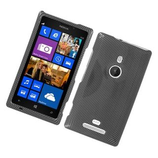 Insten Dark Grey Carbon Fiber Hard Snap-on Glossy Case Cover For Nokia Lumia 925