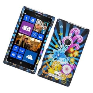 Insten Blue/ Colorful Fireworks Hard Snap-on Glossy Case Cover For Nokia Lumia 925
