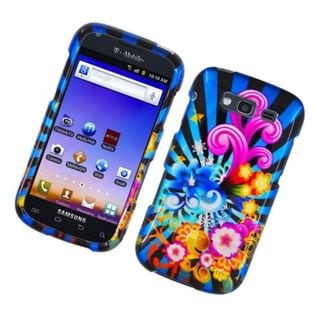 Insten Blue/ Colorful Fireworks Hard Snap-on Glossy Case Cover For Samsung Galaxy S Blaze 4G