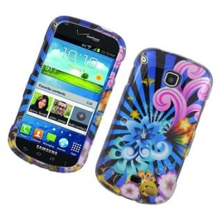 Insten Blue/ Colorful Fireworks Hard Snap-on Glossy Case Cover For Samsung Galaxy Stellar 4G