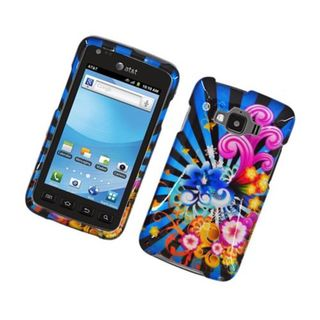 Insten Blue/ Colorful Fireworks Hard Snap-on Glossy Case Cover For Samsung Rugby Smart