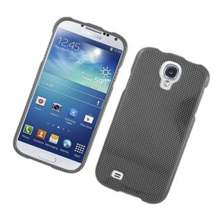 Insten Dark Grey Carbon Fiber Hard Snap-on Glossy Case Cover For Samsung Galaxy S4