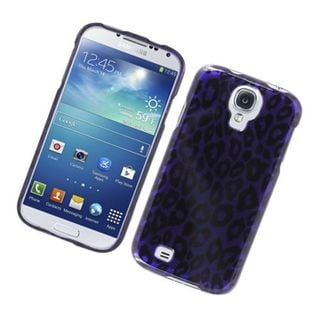 Insten Purple Leopard Hard Snap-on Glossy Case Cover For Samsung Galaxy S4