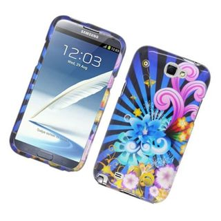 Insten Blue/ Colorful Fireworks Hard Snap-on Glossy Case Cover For Samsung Galaxy Note II