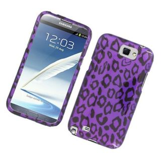 Insten Purple Leopard Hard Snap-on Glossy Case Cover For Samsung Galaxy Note II
