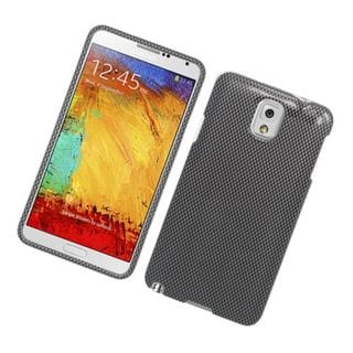Insten Dark Grey Carbon Fiber Hard Snap-on Glossy Case Cover For Samsung Galaxy Note 3