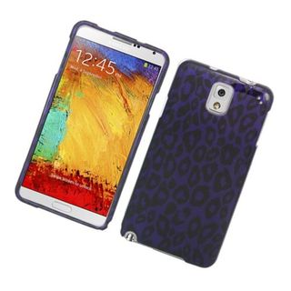 Insten Purple Leopard Hard Snap-on Glossy Case Cover For Samsung Galaxy Note 3