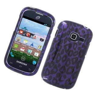 Insten Purple Leopard Hard Snap-on Glossy Case Cover For Samsung Galaxy Centura