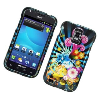 Insten Blue/ Colorful Fireworks Hard Snap-on Glossy Case Cover For Samsung Galaxy S2 Hercules