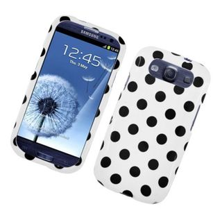 Insten Polka Dots Hard Snap-on Case Cover For Samsung Galaxy S3
