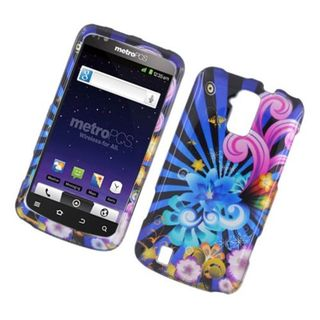Insten Blue/ Colorful Fireworks Hard Snap-on Glossy Case Cover For ZTE Force