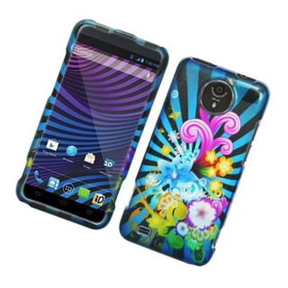 Insten Blue/ Colorful Fireworks Hard Snap-on Glossy Case Cover For ZTE Vital