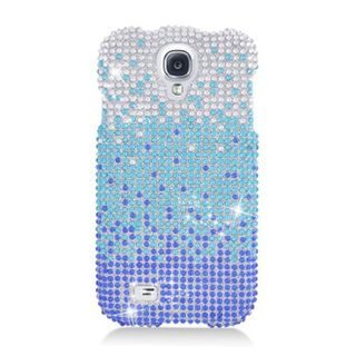 Insten Blue/ Silver Hard Snap-on Rhinestone Bling Case Cover For Samsung Galaxy S4