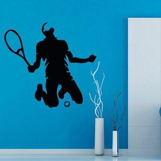 Tennis Wall Decals Tennis Player Sportsman Decor Gym Home Vinyl Wall Decor Sticker Decal size 22x22