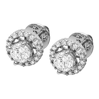 Elora 18k Gold 1/4ct TDW White Diamond Earring Jackets (I-J, I2-I3)