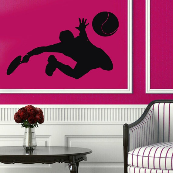 Tennis Wall Decals Tennis Player Sportsman Boy Room Wall Decor Vinyl Sticker Gym Decor Sticker Decal  sc 1 st  Overstock & Shop Tennis Wall Decals Tennis Player Sportsman Boy Room Wall Decor ...