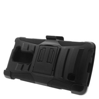 Insten Hard PC/ Silicone Dual Layer Hybrid Case Cover with Stand/ Holster For LG Escape 2