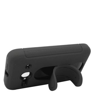 Insten Soft Silicone/ PC Dual Layer Hybrid Rubber Case Cover with Stand For Alcatel One Touch Evolve 2