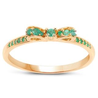 Malaika 14K Yellow Gold 0.27 Carat Genuine Zambian Emerald Ring