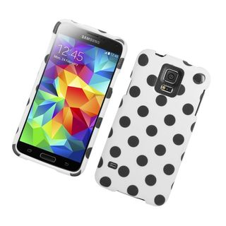 Insten Polka Dots Hard Snap-on Rubberized Matte Case Cover For Samsung Galaxy S5