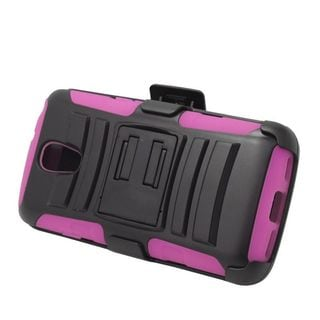 Insten Hard PC/ Silicone Dual Layer Hybrid Case Cover with Stand/ Holster For LG Volt