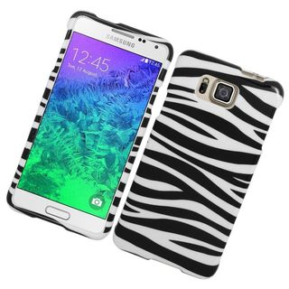 Insten Zebra Hard Snap-on Rubberized Matte Case Cover For Samsung Galaxy Alpha