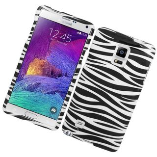 Insten Zebra Hard Snap-on Rubberized Matte Case Cover For Samsung Galaxy Note 4